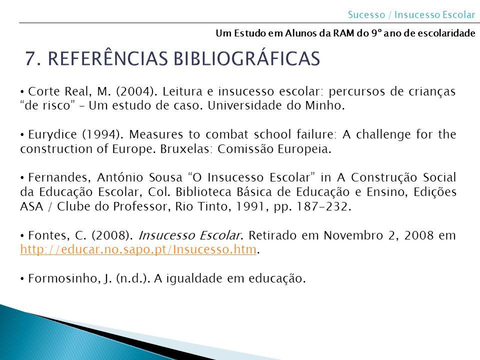 7. Referências bibliográficas