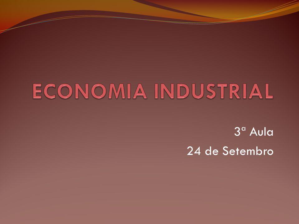 ECONOMIA INDUSTRIAL 3ª Aula 24 de Setembro
