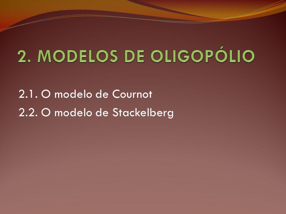 2. MODELOS DE OLIGOPÓLIO 2.1. O modelo de Cournot