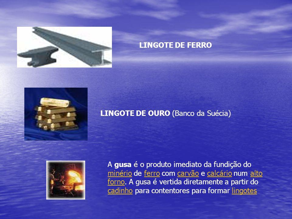 LINGOTE DE FERROLINGOTE DE OURO (Banco da Suécia)