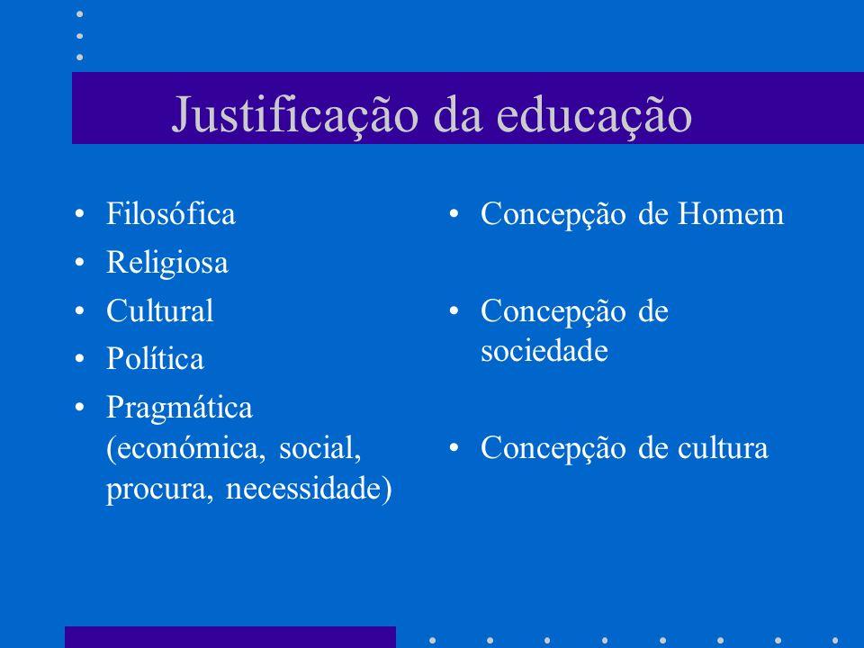 Justificação da educação