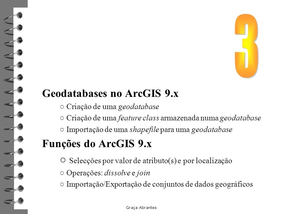 Geodatabases no ArcGIS 9.x
