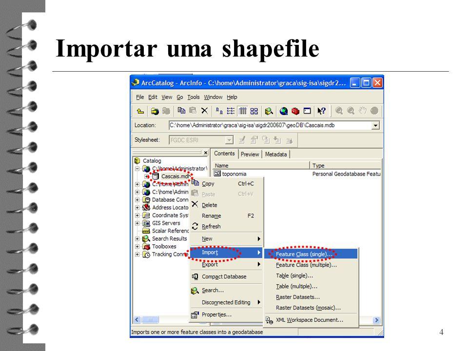 Importar uma shapefile