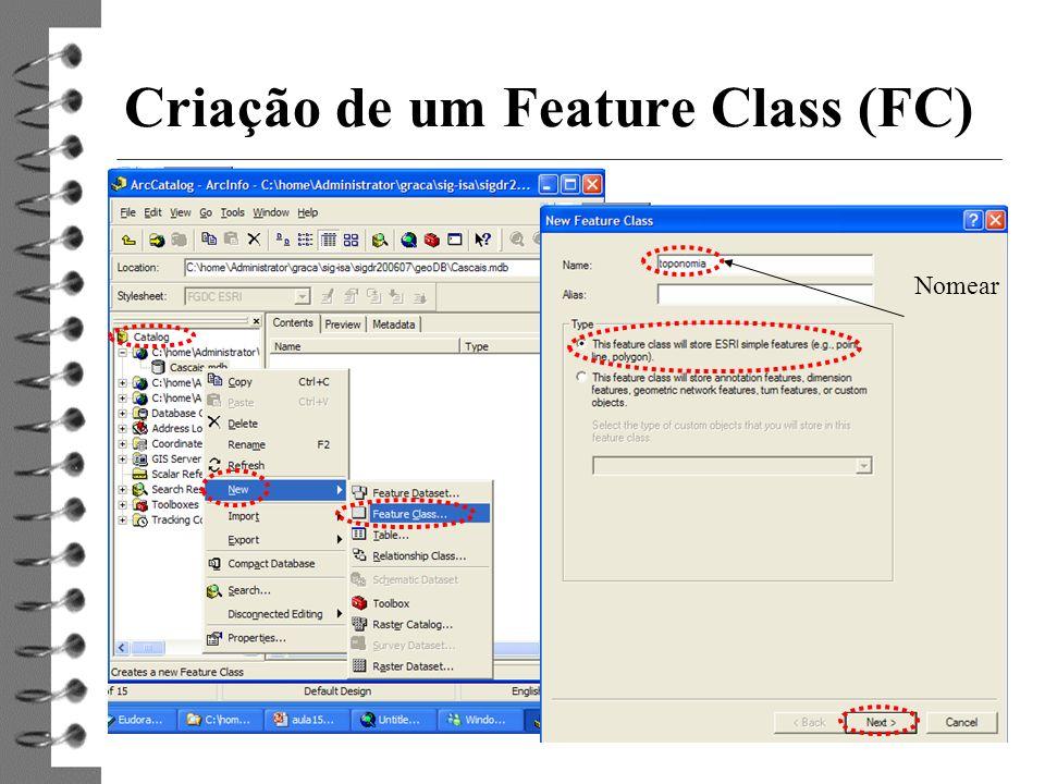 Criação de um Feature Class (FC)