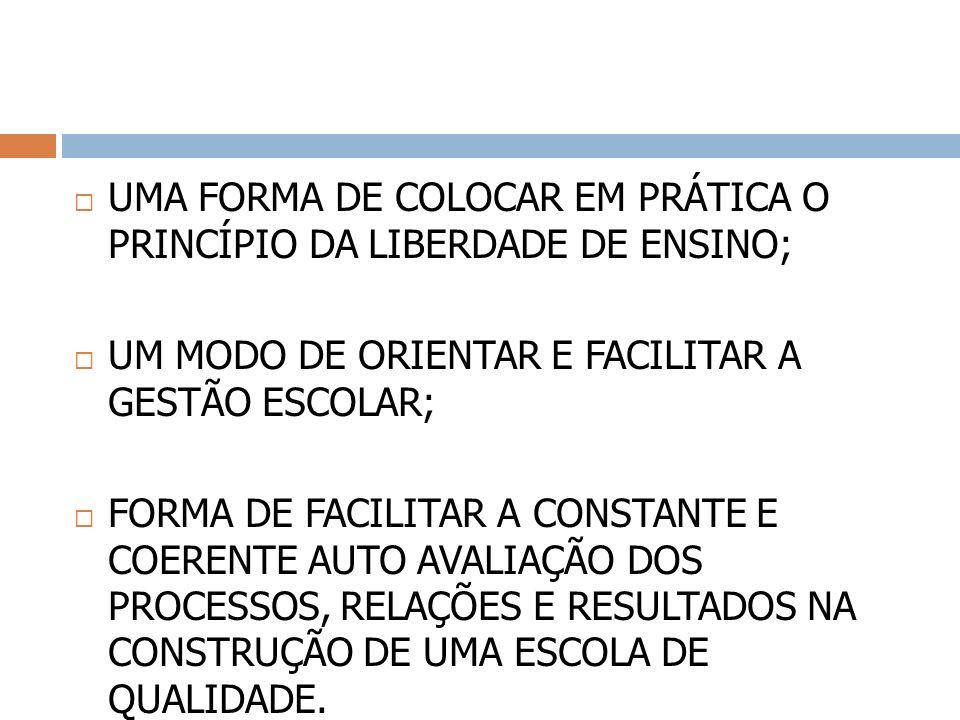 UMA FORMA DE COLOCAR EM PRÁTICA O PRINCÍPIO DA LIBERDADE DE ENSINO;