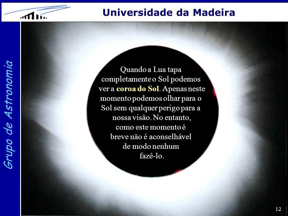 Grupo de Astronomia Universidade da Madeira Quando a Lua tapa