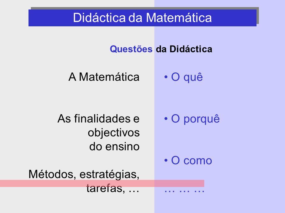 Didáctica da Matemática - questões -