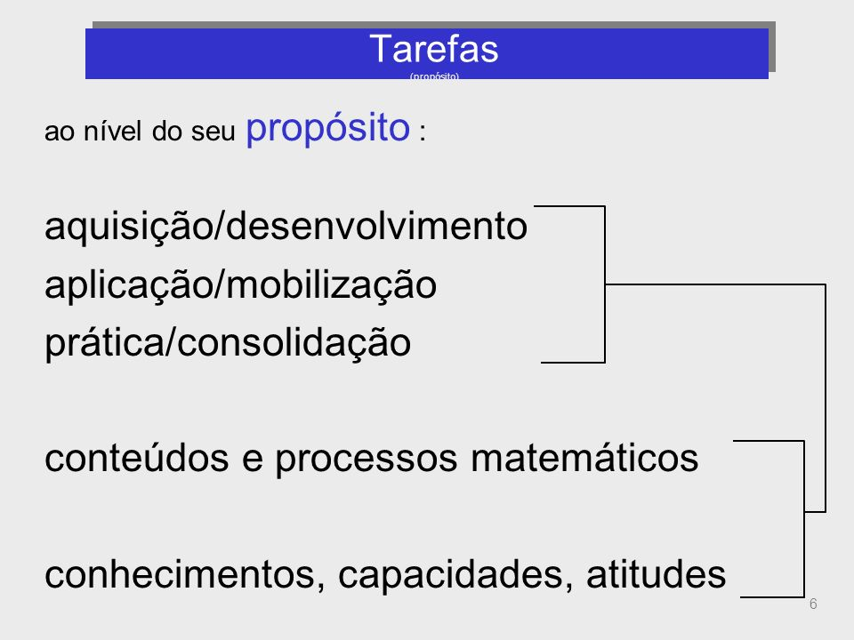 Tarefas (propósito)