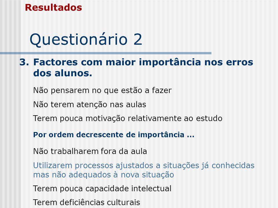 Questionário 2 Resultados