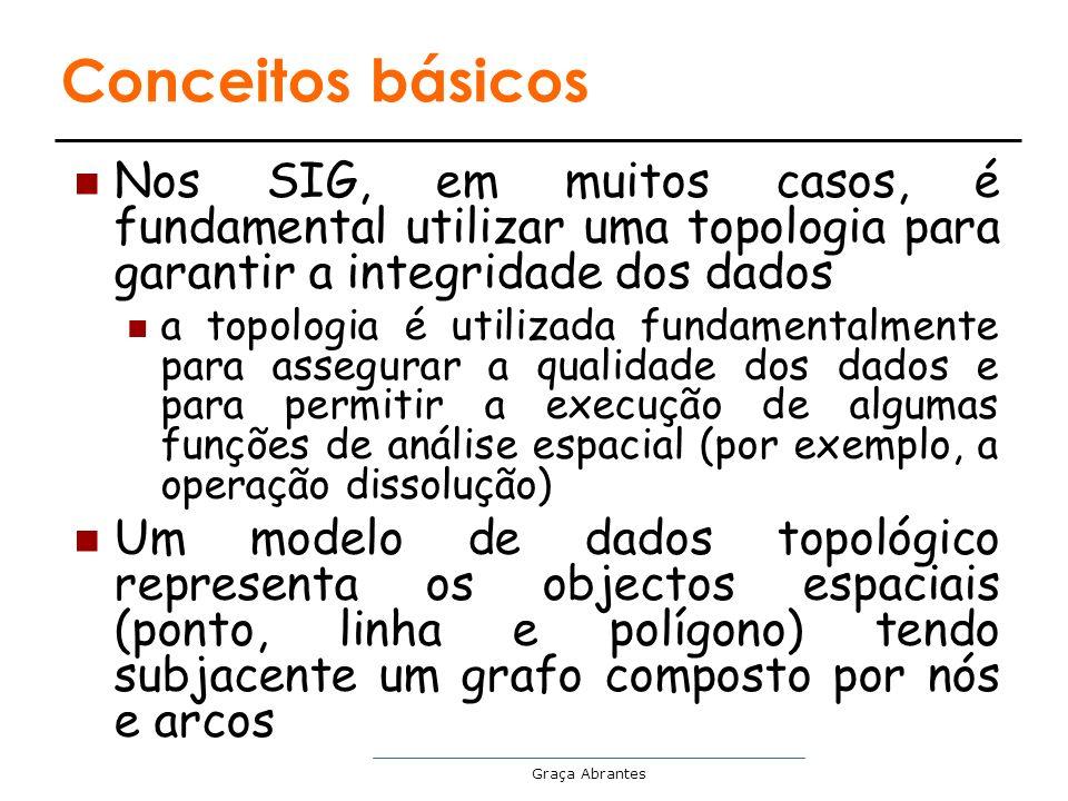 Conceitos básicos Nos SIG, em muitos casos, é fundamental utilizar uma topologia para garantir a integridade dos dados.
