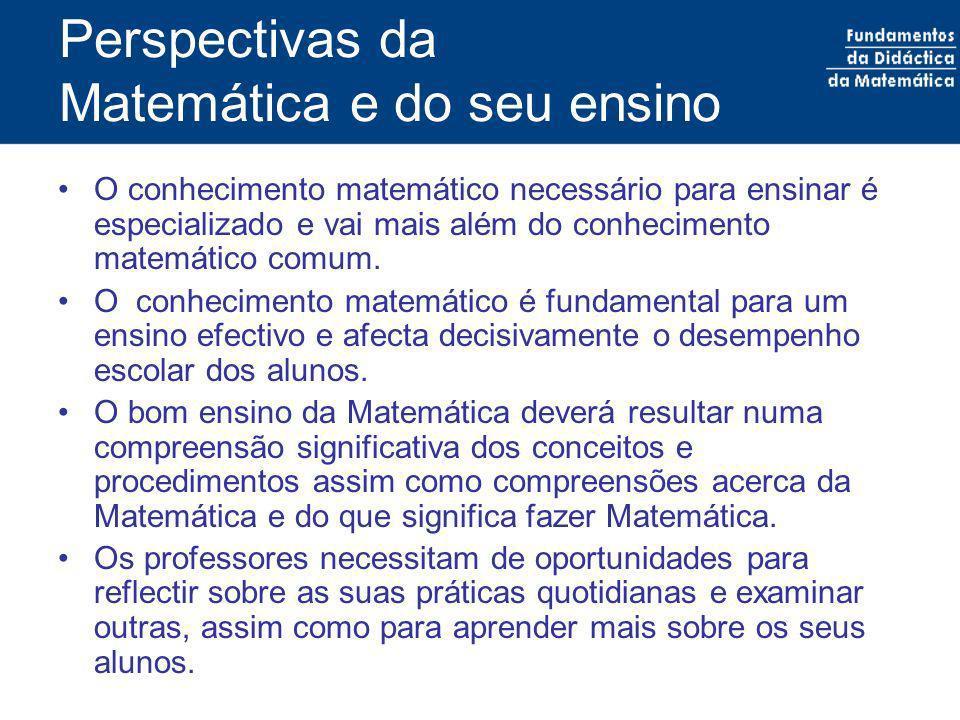 Perspectivas da Matemática e do seu ensino