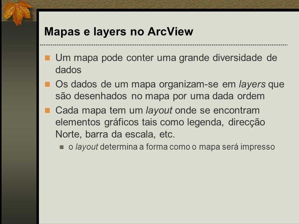 Mapas e layers no ArcView