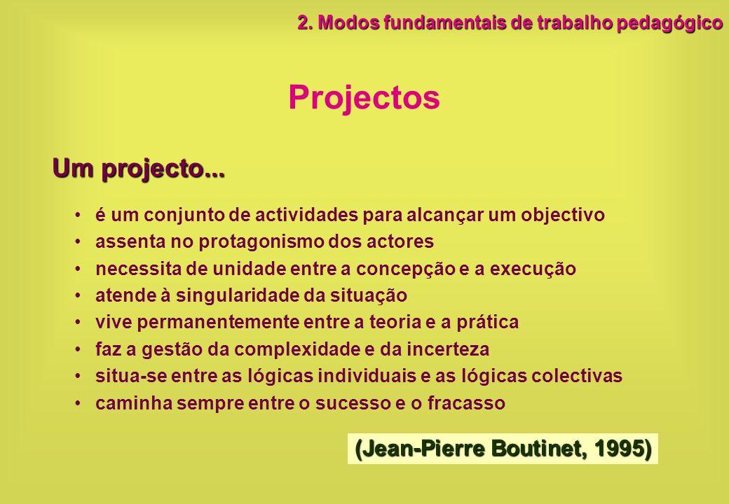 Projectos Um projecto... (Jean-Pierre Boutinet, 1995)