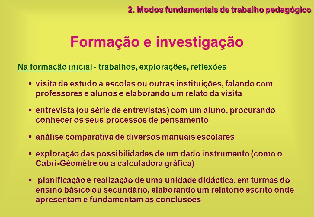 Formação e investigação