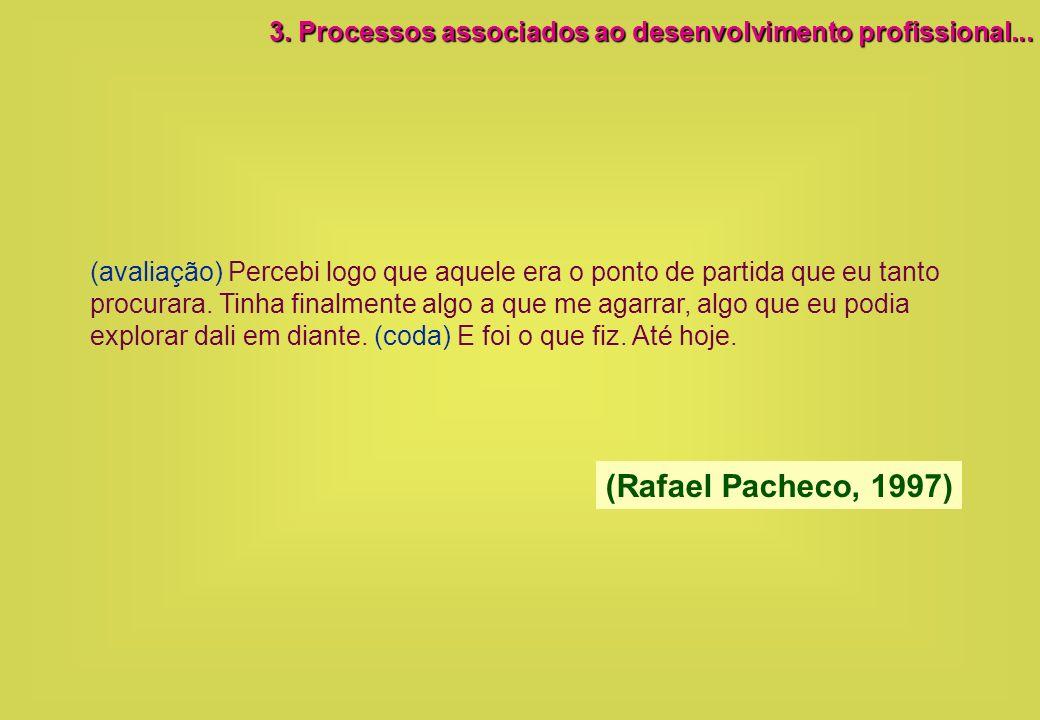 3. Processos associados ao desenvolvimento profissional...