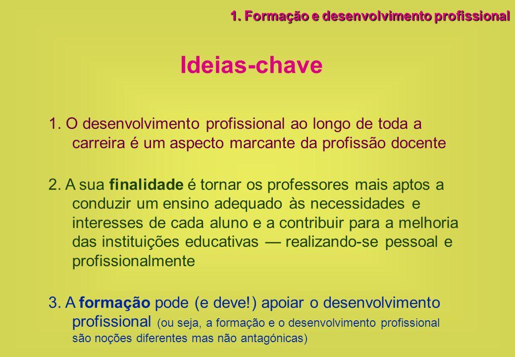 1. Formação e desenvolvimento profissional