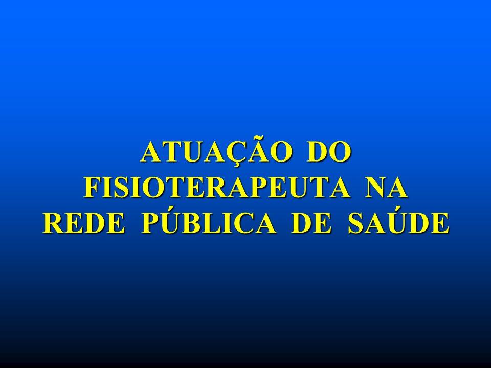ATUAÇÃO DO FISIOTERAPEUTA NA REDE PÚBLICA DE SAÚDE