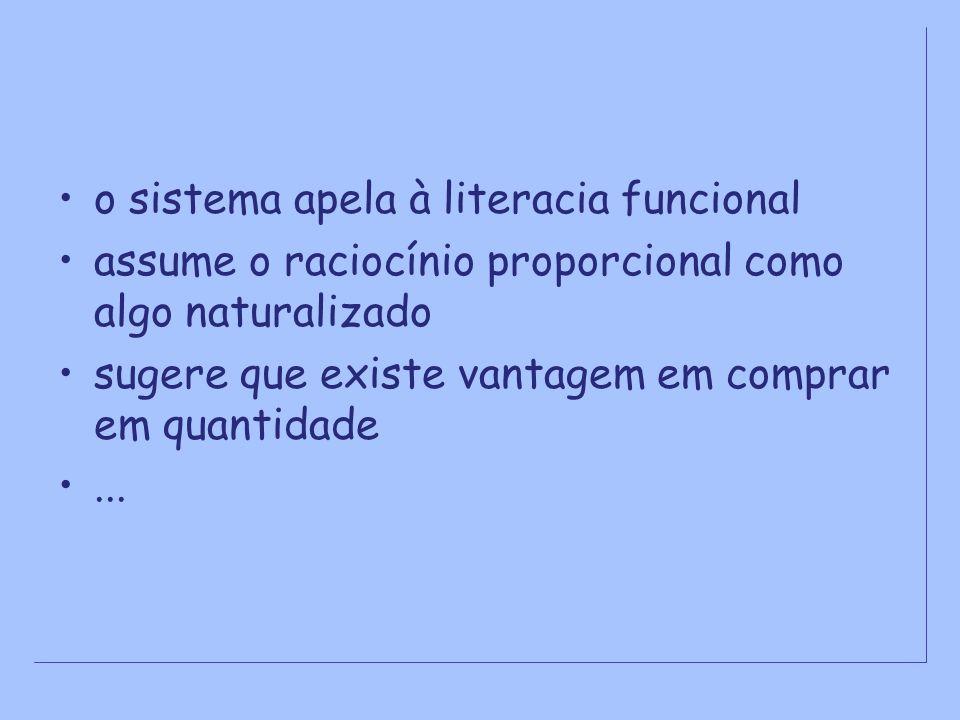 o sistema apela à literacia funcional