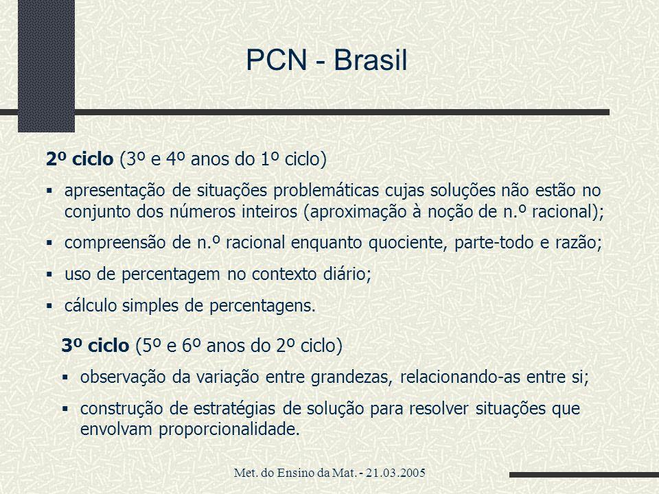 PCN - Brasil 2º ciclo (3º e 4º anos do 1º ciclo)