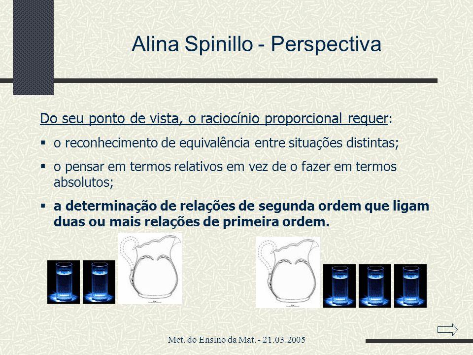 Alina Spinillo - Perspectiva