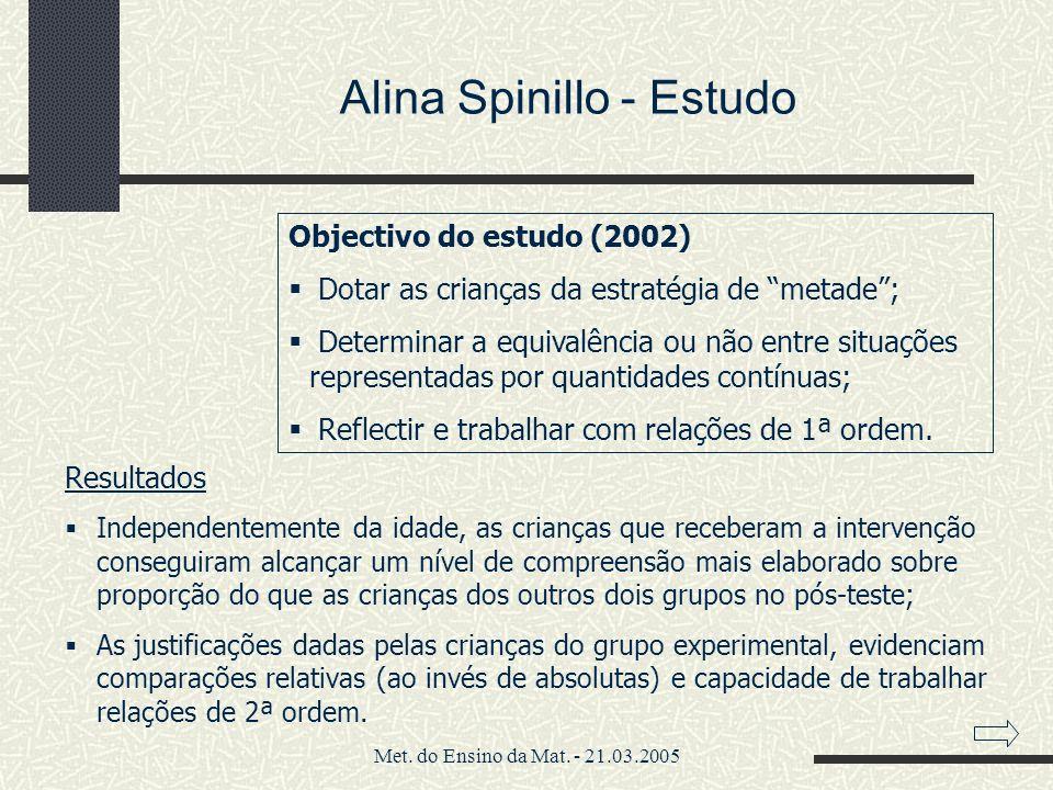 Alina Spinillo - Estudo