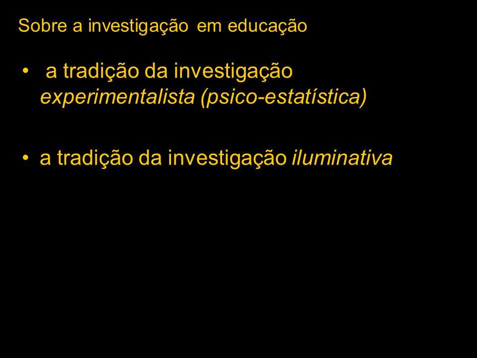 Sobre a investigação em educação