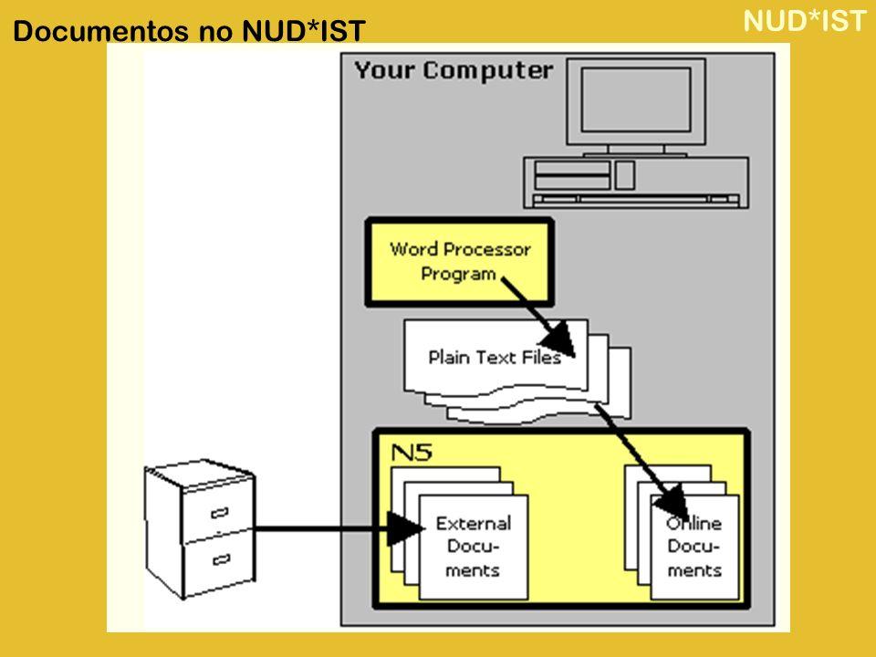 NUD*IST Documentos no NUD*IST