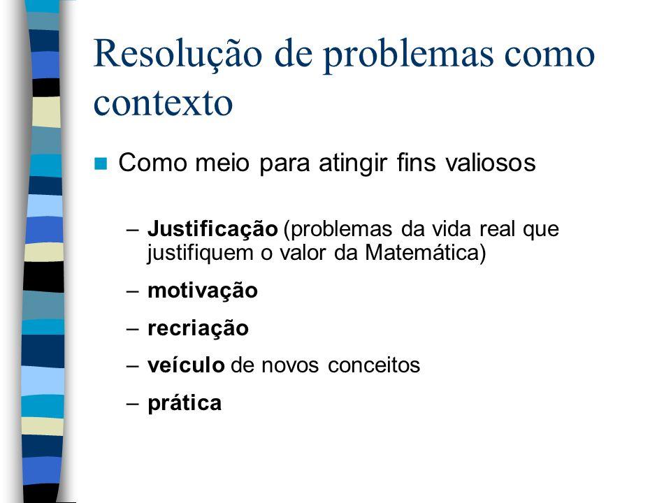 Resolução de problemas como contexto