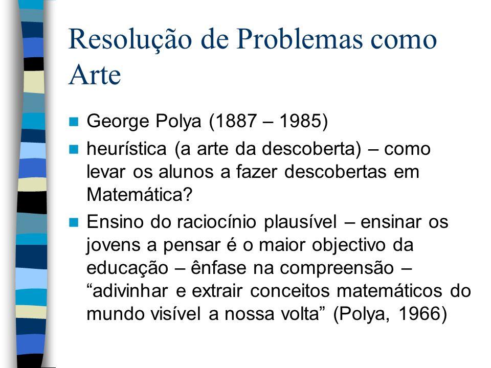 Resolução de Problemas como Arte