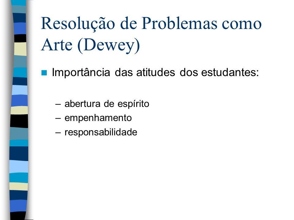 Resolução de Problemas como Arte (Dewey)