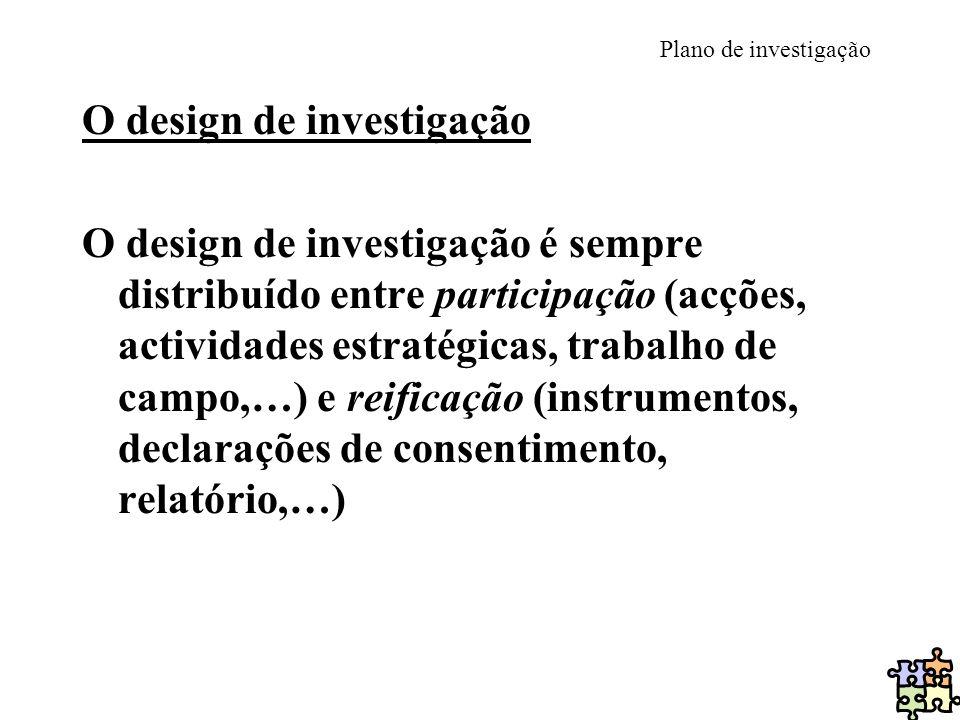 O design de investigação