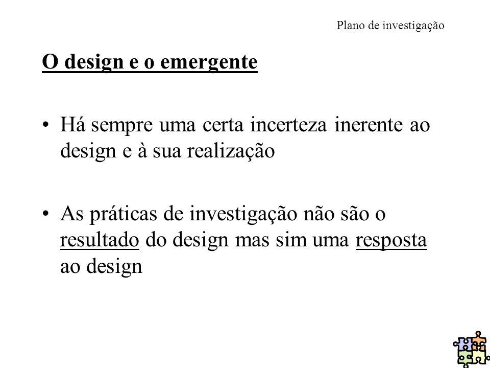 Há sempre uma certa incerteza inerente ao design e à sua realização