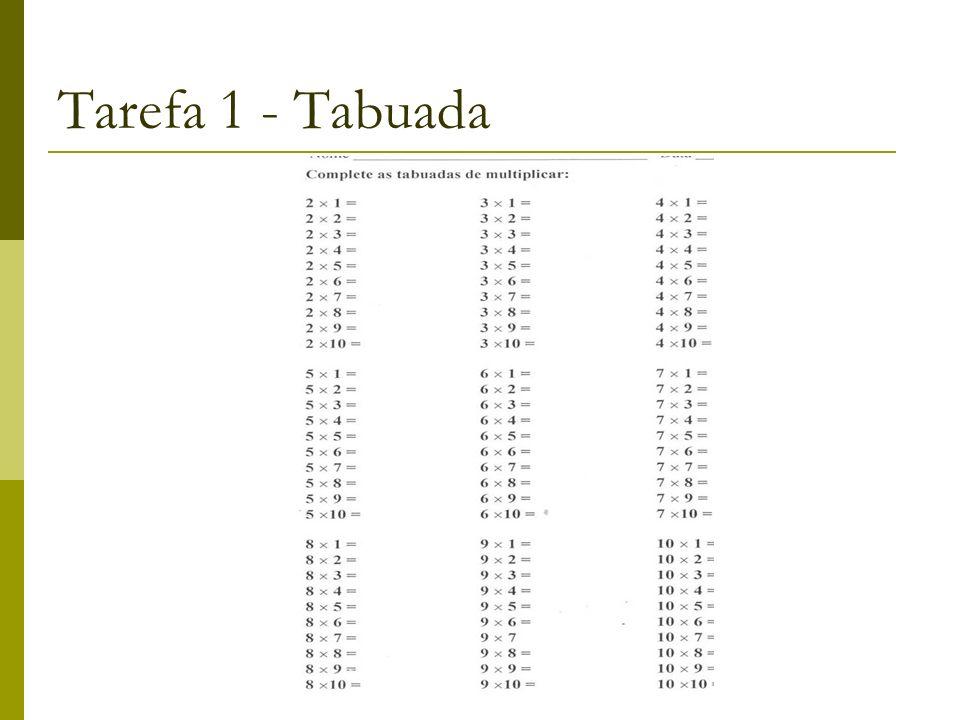 Tarefa 1 - Tabuada