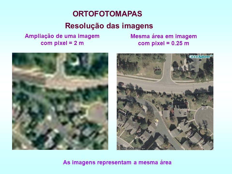 ORTOFOTOMAPAS Resolução das imagens