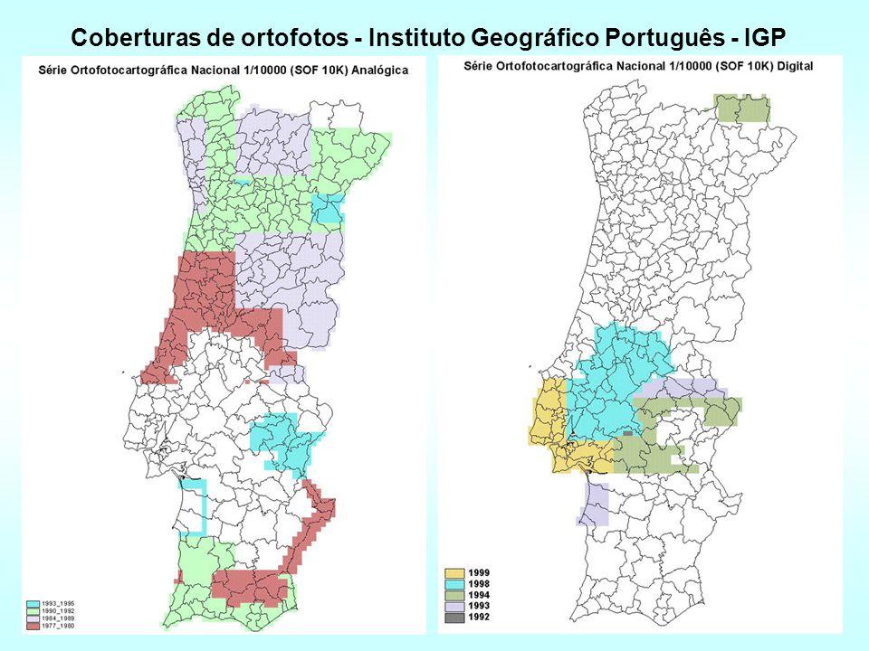 Coberturas de ortofotos - Instituto Geográfico Português - IGP