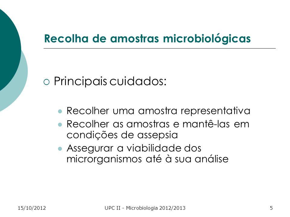 Recolha de amostras microbiológicas