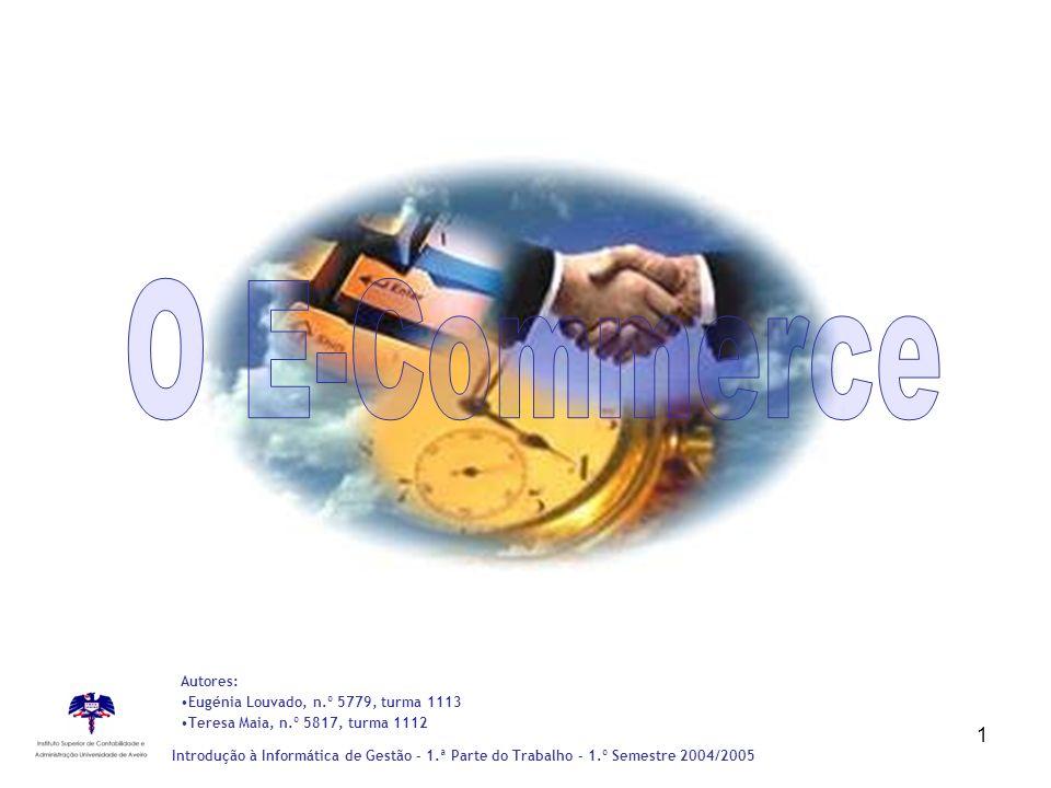 O E-Commerce Autores: Eugénia Louvado, n.º 5779, turma 1113