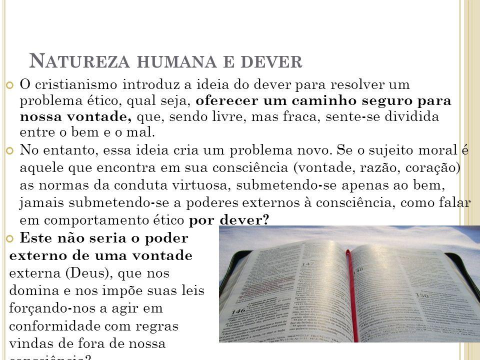 Natureza humana e dever