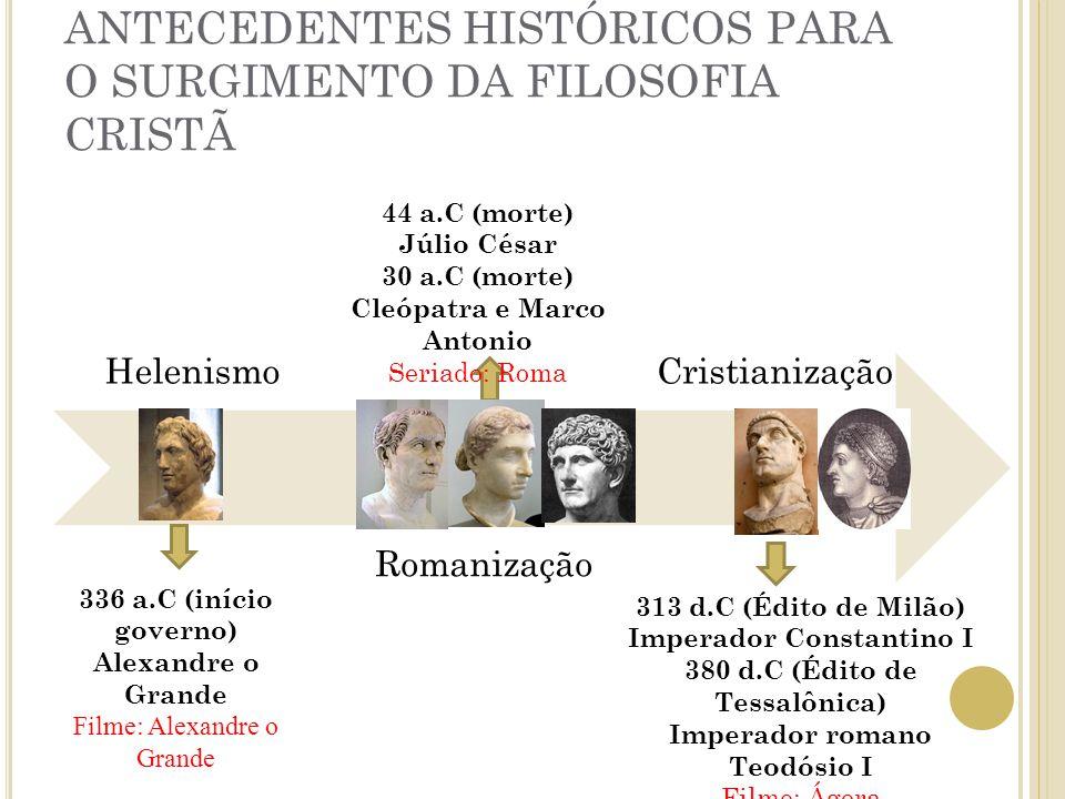 ANTECEDENTES HISTÓRICOS PARA O SURGIMENTO DA FILOSOFIA CRISTÃ