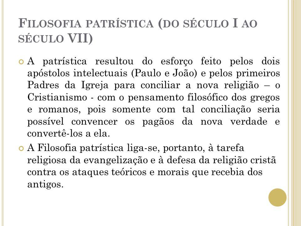 Filosofia patrística (do século I ao século VII)