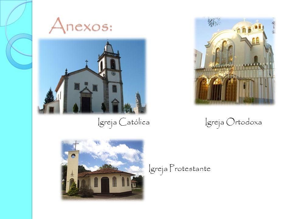 Anexos: Igreja Católica Igreja Ortodoxa Igreja Protestante
