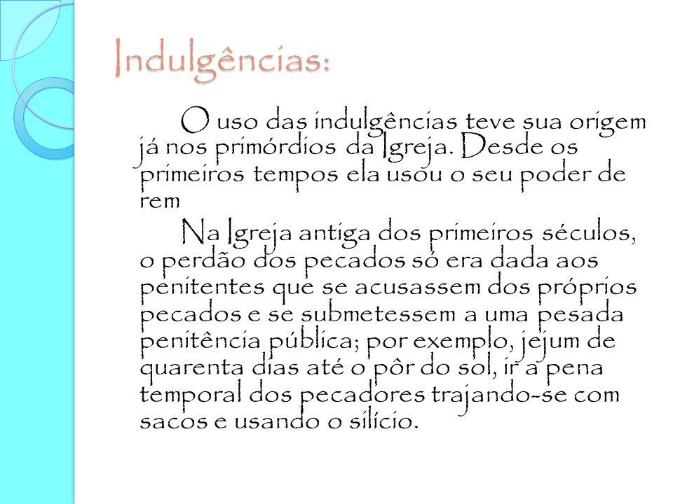 Indulgências:
