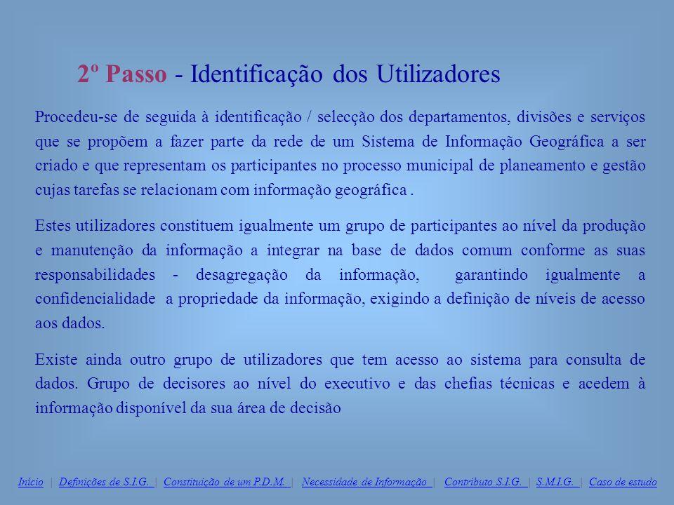 2º Passo - Identificação dos Utilizadores
