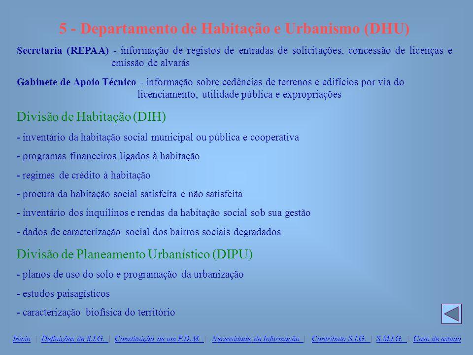 5 - Departamento de Habitação e Urbanismo (DHU)