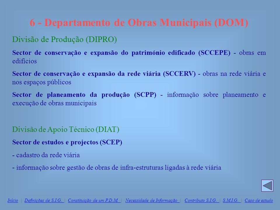 6 - Departamento de Obras Municipais (DOM)