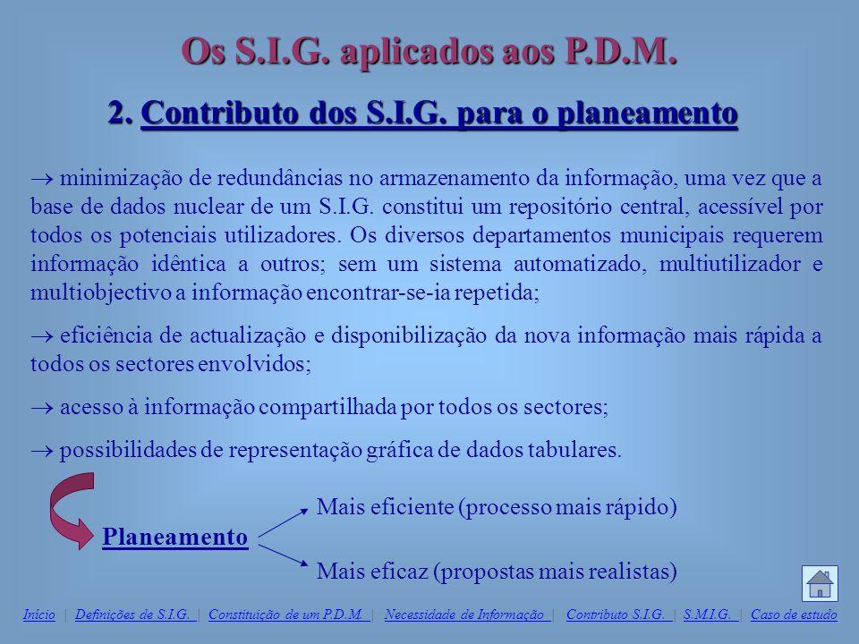 2. Contributo dos S.I.G. para o planeamento