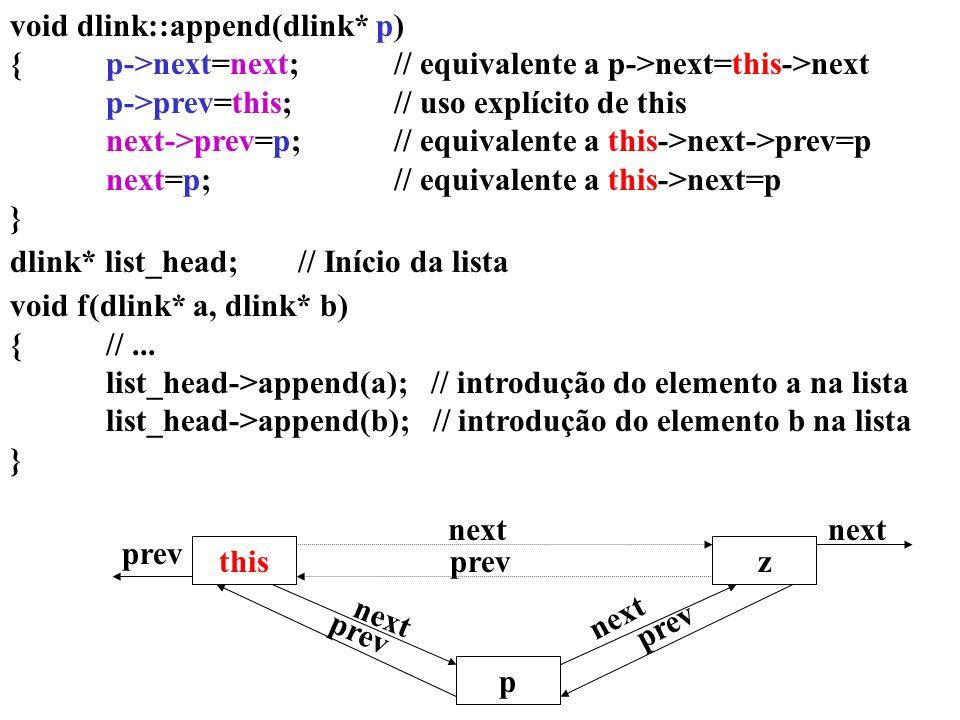 void dlink::append(dlink* p)
