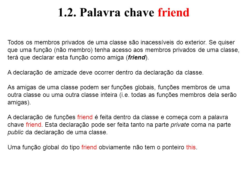 1.2. Palavra chave friend