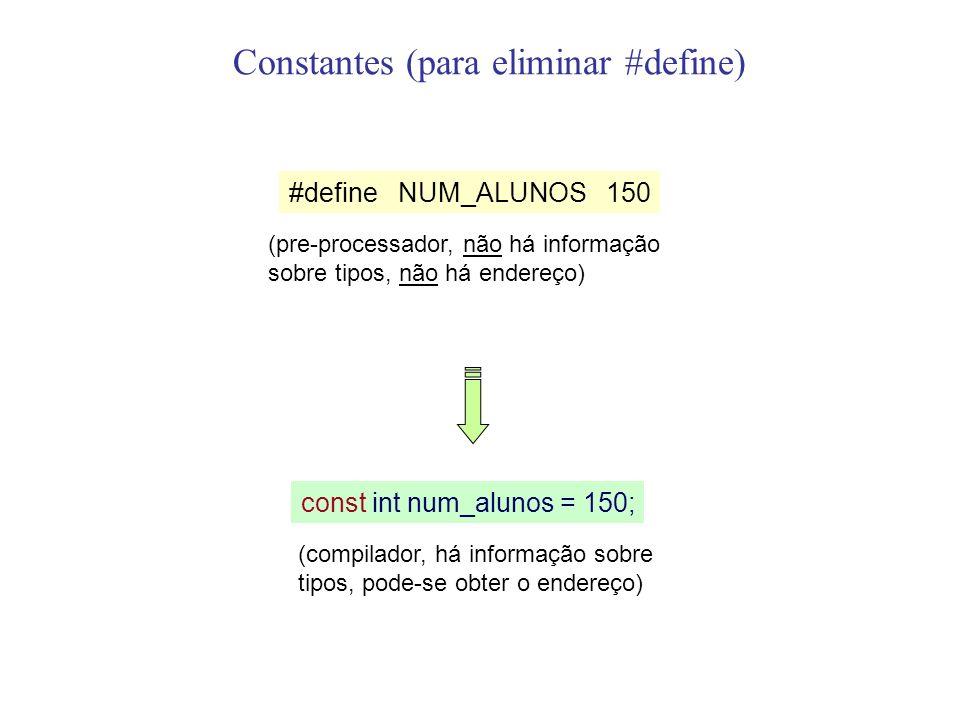 Constantes (para eliminar #define)