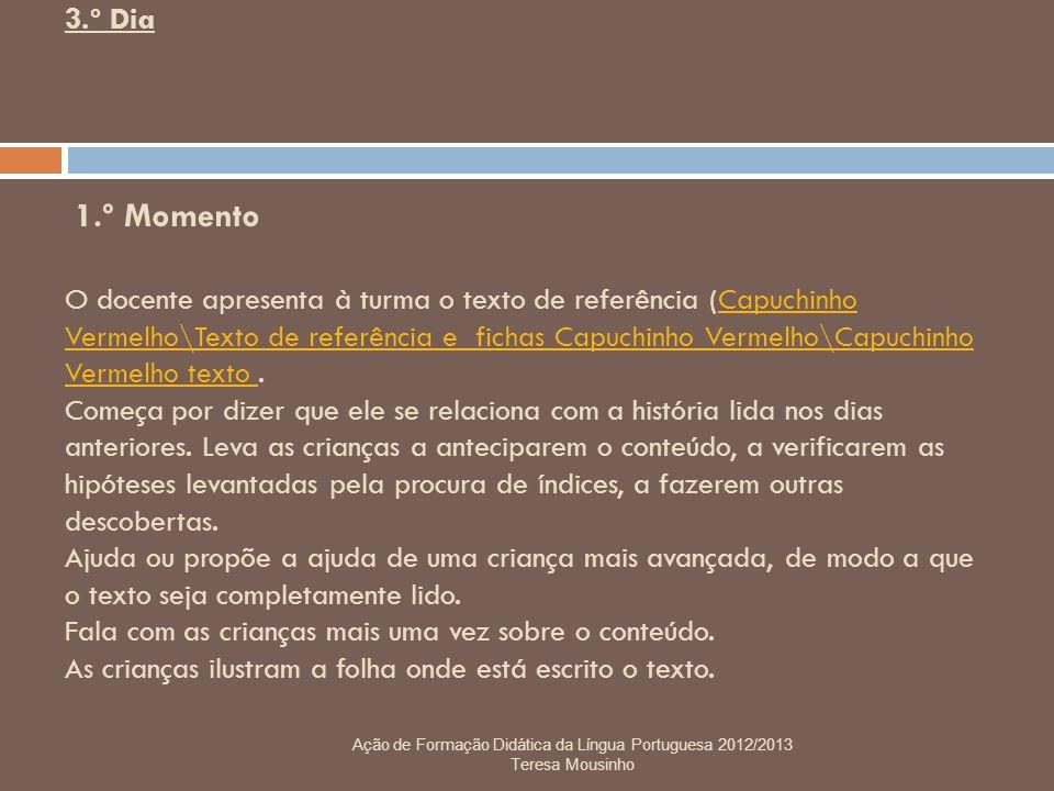 Ação de Formação Didática da Língua Portuguesa 2012/2013